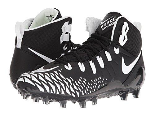 バッテリー支払い理容室(ナイキ) NIKE メンズフットボール?アメフトシューズ?靴 Force Savage Pro Black/White/Black/Black 11.5 (29.5cm) D - Medium