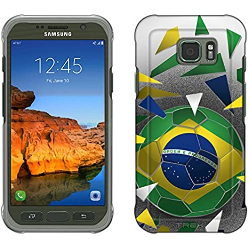 Samsung Galaxy S7 Active Case, Snap On Cover by Trek Soccer Ball Blazil Flag Slim Case Sales