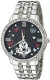 Disney Women's W001831 Minnie Mouse Analog Display Analog Quartz Silver Watch