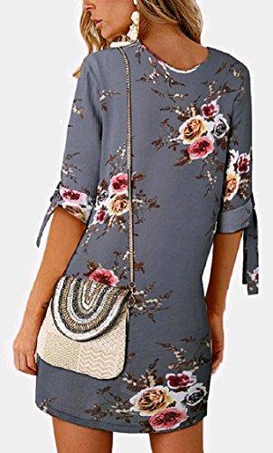 1 Una Partito Pattern6 Elegante Lace Plus 2 Girocollo Manica Up Lunga Coolred Linea donne Vestito size Floreali Da 8qCwtpT