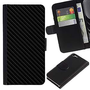 Stuss Case / Funda Carcasa PU de Cuero - CARBON PATRÓN DE IMITACIÓN - Apple Iphone 6