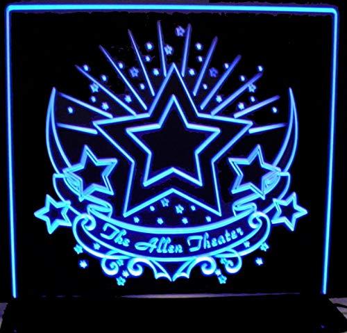 ValleyDesignsND Cartel de cine de película con estrellas ...