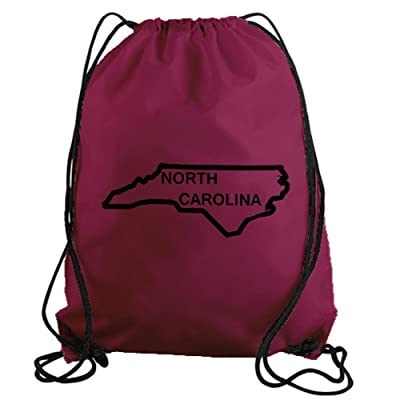 lovely STICKERSLUG North Carolina State Outline Drawstring Gym Bag nylon workout bag 22078