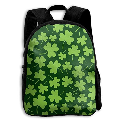 Shamrock Clovers Kid Boys Girls Toddler Pre School Backpack Bags Lightweight