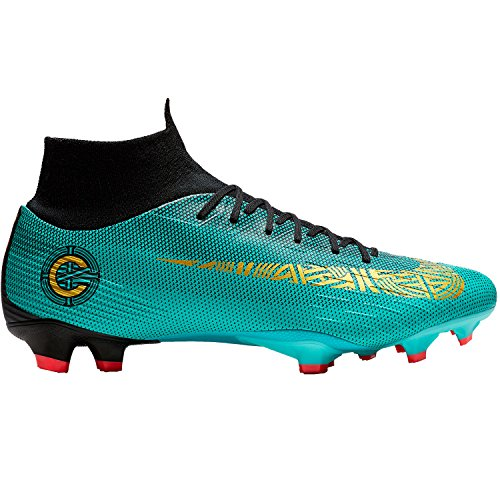 (Nike Superfly 6 Pro CR7 FG Mens Football Boots AJ3550 Soccer Cleats (UK 7.5 US 8.5 EU 42, Clear Jade Vivid Gold 390))