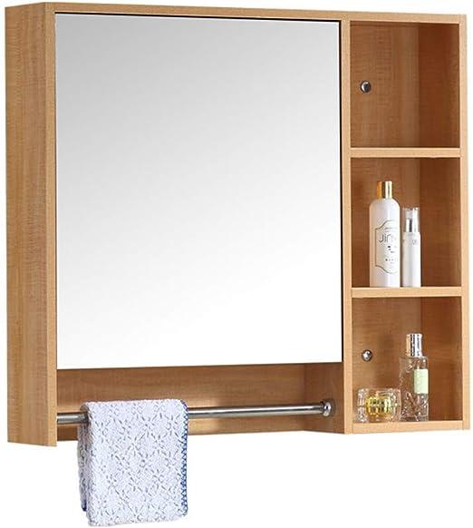 Espejo gabinete Espejo Caja Pared baño Espejo gabinete con Estante ...