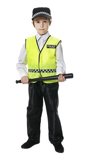 Boys Toys - Disfraz de policía para niño, talla S (UK 4-6): Amazon ...