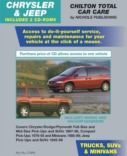 CHRYSLER & JEEP Trucks, SUVs, & Minivans 1967-1999 (2 CD Set in Jewel Case) (Total Car Care)