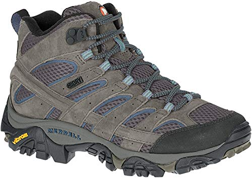 Merrell Women's Moab 2 Mid Waterproof Hiking Boot, Granite, 7.5 M US (Merrell Women Boots Winter)