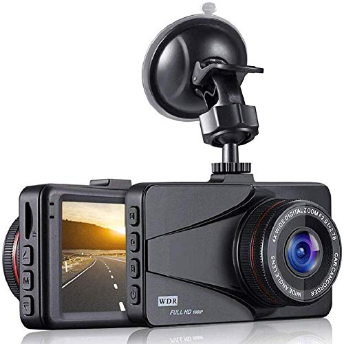 BUIEJDOG Dash Cam Full HD 1080p Car Dash Camera DVR Dashboard Camera Video Recorder in Car Camera 3.0″ LCD Screen Dashcam for Cars Front with Night Vision 170°Wide Angle, G-Sensor and Loop Record