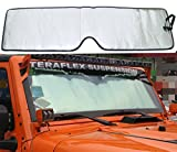 jeep windshield sun shade - Bolaxin Front Windshield Sunshade Sun shade for Jeep Wrangler JK 2007-2017
