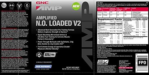 GNC Pro Performance AMP Amplified N.O. Loaded V2 - Blue Raspberry