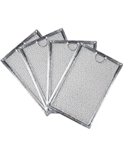 Ketofa Microwave Grease Filter Compatible with GE Hotpoint - 7.6'' X 5.1'' Range Oven Hood Filter Replacement Parts for WB06X10359 910504 AP3185629 (Pack of 4)