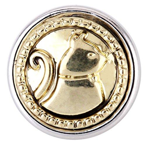 Morella sMALL ® femme le système click-button lot de 5 boutons de pression de 12 mm diamètre perd de chat et de fleurs