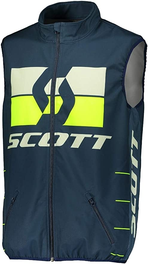 Scott Enduro Motorrad Fahrrad Weste Blau Gelb 2020 Größe S 46 48 Auto
