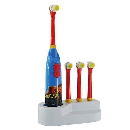 Niño Cepillo De Dientes Electrico Cepillo Dental Giratorio,3 Cabeza De Cepillo De Dientes Reemplazable
