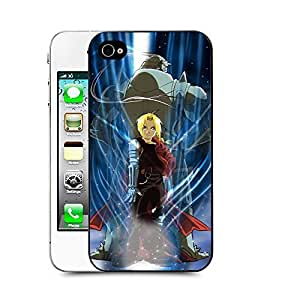 Case88 Designs Fullmetal Alchemist Brotherhood Edward Elric and Alphonse Elric Protective Snap-on Hard Back Case Cover for Apple Iphone 4 4s