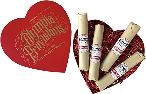 Olympia Provisions - European Salami Sampler - Heart Shaped Box Charcuterie Gift Set (Olympia Gifts)