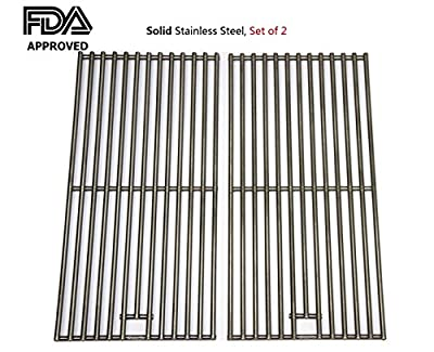 Hongso SC1702 (2-pack) BBQ Solid Stainless Steel Wire Cooking Grid, Cooking Grate Replacement for 2 burner Char-Broil 463645015, 466645015, 466645115 and Others. FDA approved by Hongso