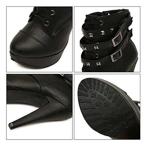 85%OFF Newbestyle Femme L'automne et l'hiver Chaussures à