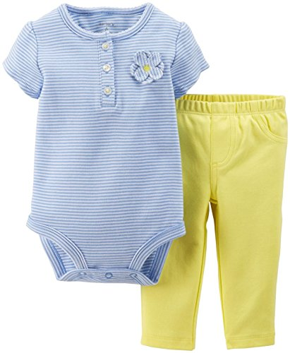 Carter's Baby Girls' 2 Piece Bodysuit & Pant Set (Baby) - Yellow - 3 Months