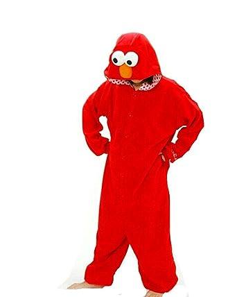 Rojo Monstruo De La Galleta Plaza Sésamo Unisexo Adulto Disfraz ...