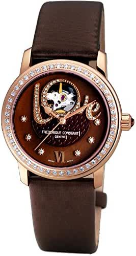 Frederique Constant Women's FC310CLHB2PD4 Ladies Automatic Brown Open Dial Diamond Watch by Frederique Constant