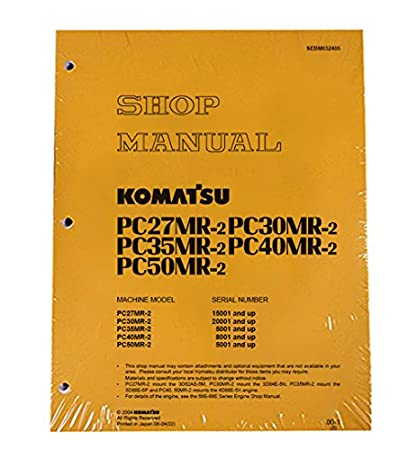 amazon com komatsu service pc27mr 2 pc30mr 2 pc35mr 2 manual rh amazon com Komatsu 490 Excavator Digging Komatsu PC1200
