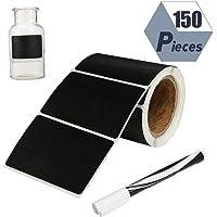Angelikashalala 150 etiquetas adhesivas de pizarra, reutilizables, impermeables