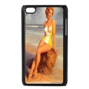 Redhead Pin Up Girl Telephone for iPod Touch 4 Case ATR012842