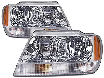 Amazoncom Jeep Grand Cherokee 99 00 01 0204 Headlight Limited