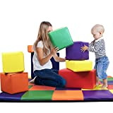 Dream Tree Building Blocks [Set of 8] Washable, Non-Toxic CPSIA Compliant Learning Toys Soft Foam Blocks for Toddler, Baby, Kids, and Preschool