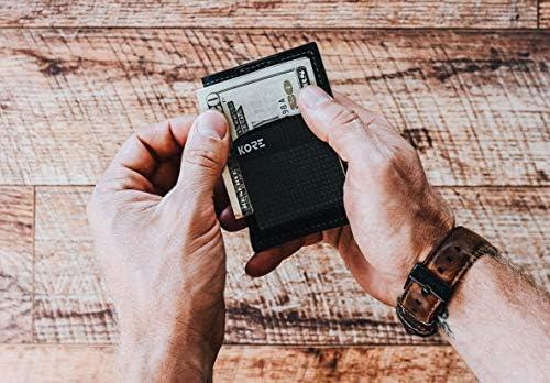 Kore Men S Slim Wallet Carbon Fiber Money Clip Rfid Block Office Products Amazon Com Slim wallet + carbon fiber money clip by kore essentials. kore men s slim wallet carbon fiber money clip rfid block
