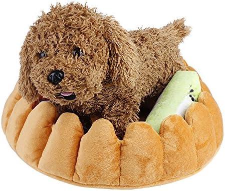 GFEU - Cama Acolchada para Perro, con Forma de Tarta de Peluche, cómoda y Transpirable, para Perros y Gatos