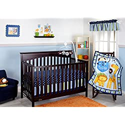 Little Bedding No.1 Team Monkey 10 Piece Crib Set for boys