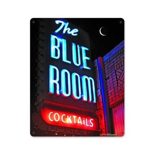 Blue Room Bar and Alcohol Metal Sign