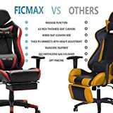 Ficmax Massage Gaming Chair Ergonomic Computer