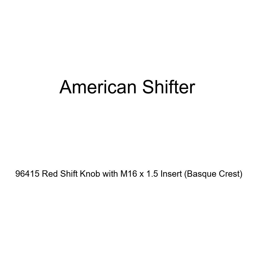 Basque Crest American Shifter 96415 Red Shift Knob with M16 x 1.5 Insert