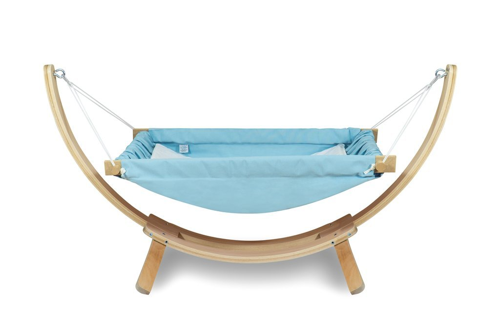 Baby Hammock Cradle 100/% Cotton Cribs Travel babyhammock Wooden Swing with Stand Green