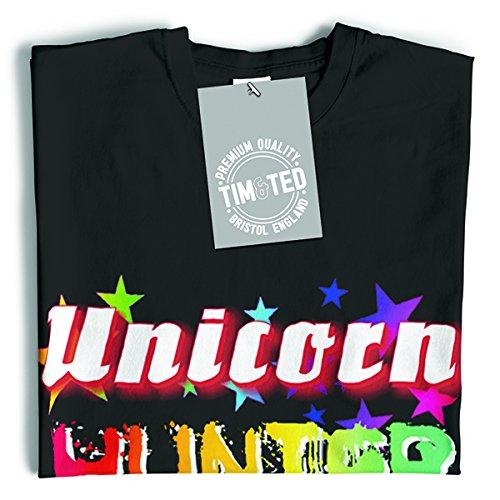 Unicorn Hunter Rainbow fantasia Magia Stampa disegno della novità Nerd T-Shirt Da Donna