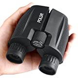 POLDR 10x25 Compact Binoculars for Adults and Kids Travel Hiking Bird Watching. Folding High Powered Waterproof Binoculars Outdoor Sports Games and Concerts(0.57lb)