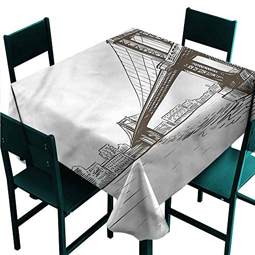 DONEECKL Square Tablecloth New York Urban Cityscape of NYC Picnic W54 xL54