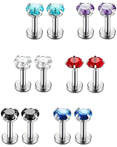 Jstyle Stainless Piercing Labret Piercings