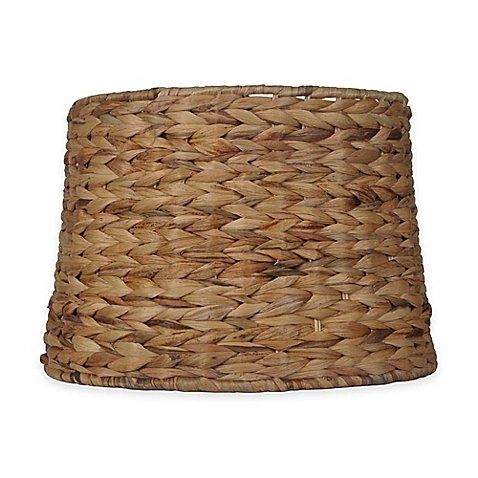 Mix & Match Large 15-Inch Hardback Drum Lamp Shade in Seagrass by Mix & Match