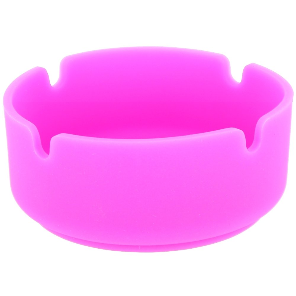 Ashtray Fluorescent Glow in the Dark Silicone Pink by Promobo