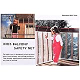 NEWSTYLE Kid Safe Deck Guard - Safety Net Railnet for Balcony, Stairway and Patios - 10ft.L x 2.5ft.H