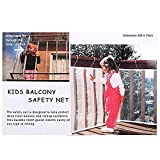 Image of NEWSTYLE Kid Safe Deck Guard - Safety Net Railnet for Balcony, Stairway and Patios - 10ft.L x 2.5ft.H