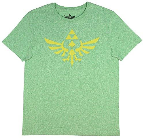 Legend of Zelda Skyward Sword Triforce Symbol Men's T-Shirt (Heather Green, X-Large) (Legend Swords Of Zelda)