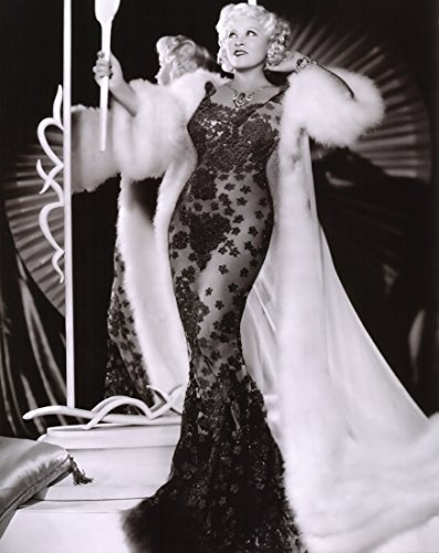 Mae West Black Dress Fur Coat Glamour Poster Art Photo Hollywood Movie Star Posters Photos 16x20