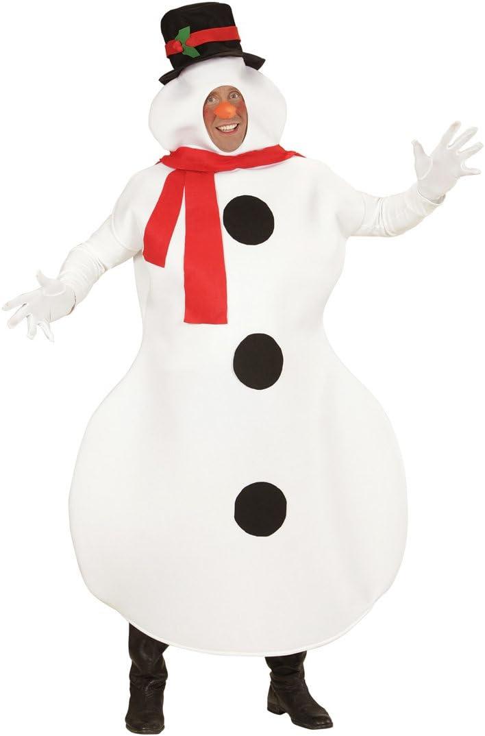 Amakando Traje muñeco de Nieve Disfraz Navidad M/L 50/52 Outfit ...